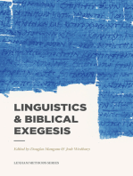 Linguistics & Biblical Exegesis