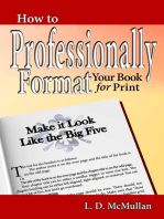 How to Professionally Format Your Book for Print