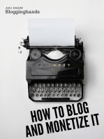 How to Blog and Monetize It