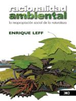 Racionalidad ambiental: La reapropiación social de la naturaleza