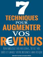 7 Techniques Pour Augmenter Vos Revenus: Rentabilisez vos passions, Testez vos idées et Lancez votre business sans risque