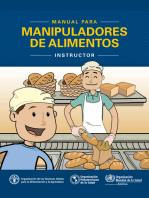 Manual para manipuladores de alimentos: Instructor