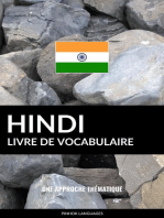 Livre de vocabulaire hindi