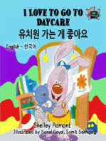 I Love to Go to Daycare (Korean Children's Book)
