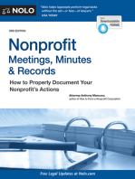 Nonprofit Meetings, Minutes & Records