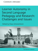 Learner Autonomy in Second Language Pedagogy and Research