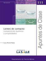 Lentes de contacto: composición química y propiedades: Apuntes de Clase  111