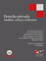 Derecho privado: Análisis, crítica y reflexión