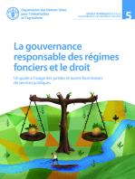 La gouvernance responsable des régimes fonciers et le droit