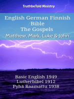 English German Finnish Bible - The Gospels - Matthew, Mark, Luke & John