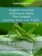 English German Armenian Bible - The Gospels - Matthew, Mark, Luke & John