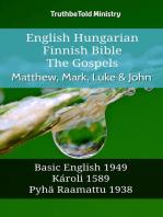 English Hungarian Finnish Bible - The Gospels - Matthew, Mark, Luke & John