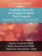 English Finnish Portuguese Bible - The Gospels - Matthew, Mark, Luke & John