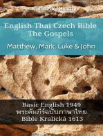 English Thai Czech Bible - The Gospels - Matthew, Mark, Luke & John