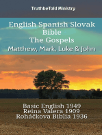 English Spanish Slovak Bible - The Gospels - Matthew, Mark, Luke & John