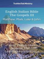 English Italian Bible - The Gospels III - Matthew, Mark, Luke and John