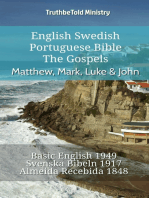English Swedish Portuguese Bible - The Gospels - Matthew, Mark, Luke & John