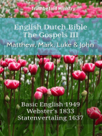 English Dutch Bible - The Gospels III - Matthew, Mark, Luke and John