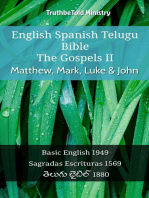 English Spanish Telugu Bible - The Gospels II - Matthew, Mark, Luke & John: Basic English 1949 - Sagradas Escrituras 1569 - తెలుగు బైబిల్ 1880