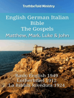 English German Italian Bible - The Gospels - Matthew, Mark, Luke & John