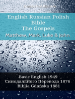 English Russian Polish Bible - The Gospels - Matthew, Mark, Luke & John