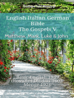 English Italian German Bible - The Gospels V - Matthew, Mark, Luke & John