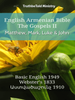 English Armenian Bible - The Gospels II - Matthew, Mark, Luke and John