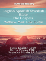 English Spanish Swedish Bible - The Gospels - Matthew, Mark, Luke & John