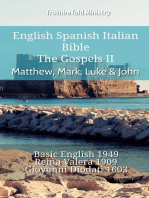 English Spanish Italian Bible - The Gospels II - Matthew, Mark, Luke & John