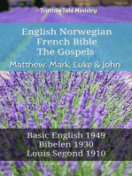 English Norwegian French Bible - The Gospels - Matthew, Mark, Luke & John