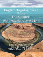 English Tagalog Czech Bible - The Gospels - Matthew, Mark, Luke & John