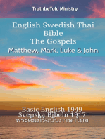 English Swedish Thai Bible - The Gospels - Matthew, Mark, Luke & John