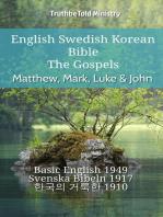 English Swedish Korean Bible - The Gospels - Matthew, Mark, Luke & John