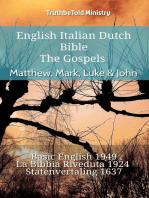 English Italian Dutch Bible - The Gospels - Matthew, Mark, Luke & John