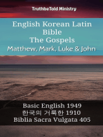 English Korean Latin Bible - The Gospels - Matthew, Mark, Luke & John