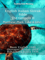 English Italian Slovak Bible - The Gospels II - Matthew, Mark, Luke & John