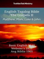 English Tagalog Bible - The Gospels II - Matthew, Mark, Luke and John
