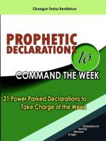 Prophetic Declarations to Command the Week