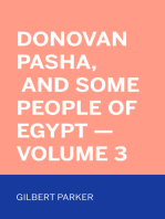 Donovan Pasha, and Some People of Egypt — Volume 3