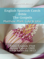 English Spanish Czech Bible - The Gospels - Matthew, Mark, Luke & John
