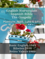 English Norwegian Spanish Bible - The Gospels - Matthew, Mark, Luke & John