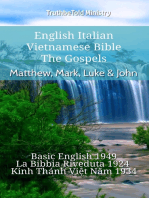 English Italian Vietnamese Bible - The Gospels - Matthew, Mark, Luke & John