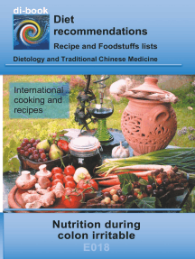 Nutrition during colon irritable: E018 DIETETICS - Gastrointestinal tract - Small intestine and large intestine - Colon irritable