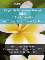 English Russian Slovak Bible - The Gospels - Matthew, Mark, Luke & John
