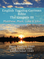 English Tagalog German Bible - The Gospels III - Matthew, Mark, Luke & John