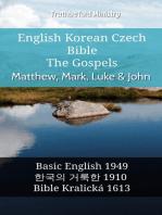 English Korean Czech Bible - The Gospels - Matthew, Mark, Luke & John
