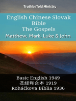 English Chinese Slovak Bible - The Gospels - Matthew, Mark, Luke & John