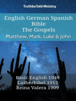 English German Spanish Bible - The Gospels - Matthew, Mark, Luke & John