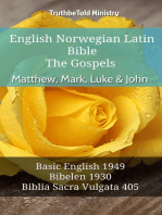 English Norwegian Latin Bible - The Gospels - Matthew, Mark, Luke & John