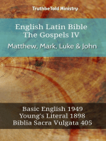 English Latin Bible - The Gospels IV - Matthew, Mark, Luke & John
